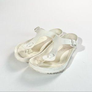 Birkenstock white Gizeh Eva sandal